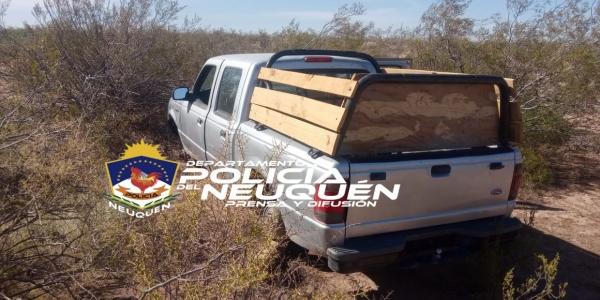 Recuperaron en Centenario una camioneta que había sido robada en Cipolletti
