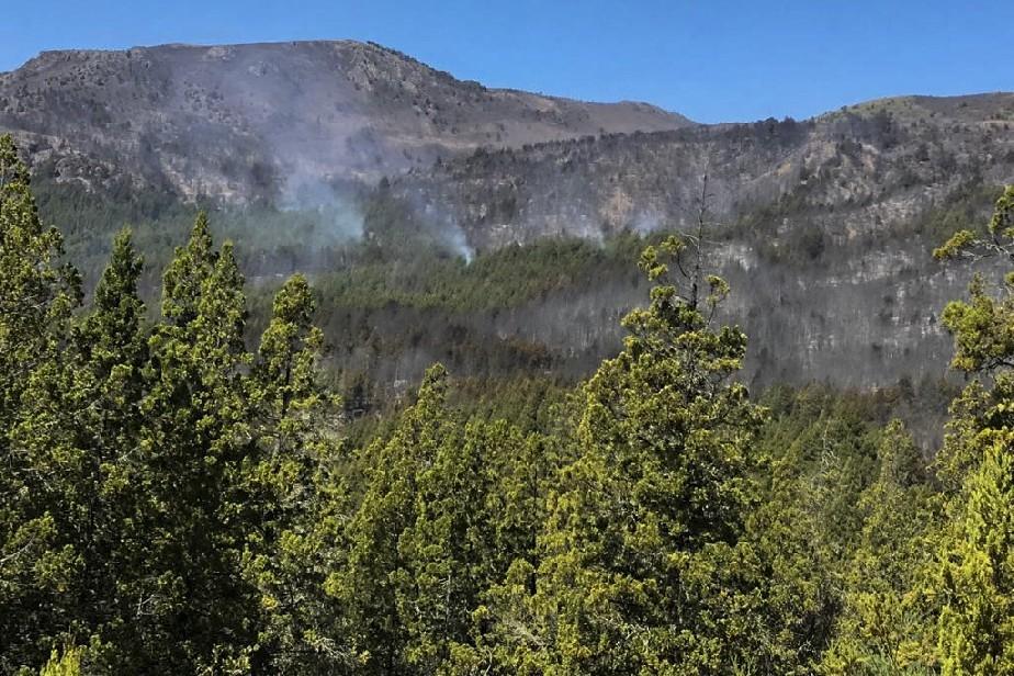 Continúa la interminable lucha contra las llamas en El Bolsón